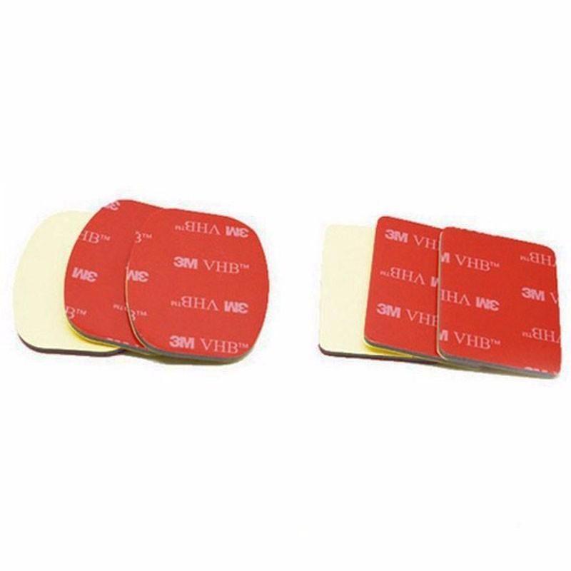 6 Pcs/lot Gopro 3M VHB Adhesive Sticky 3 Concave 3 Flat Sticker for Gopro hero 2 3+ 4 sj4000 Xiaomi yi Helmet Mount accessories