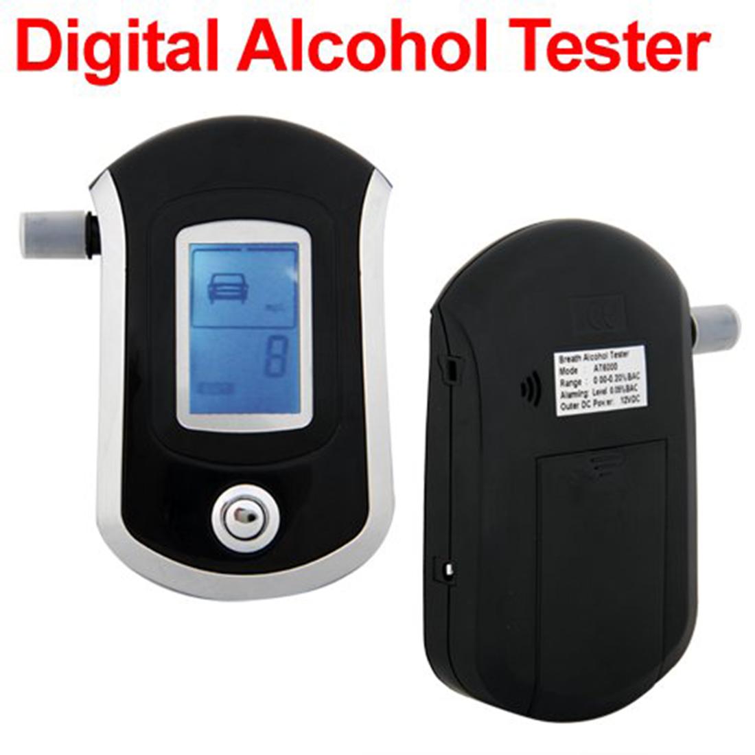 2015 Police Digital LCD Alcohol Breath Tester Analyzer Breathalizer Breathalyser High Quality Breathalyzer Free Shipping(China (Mainland))
