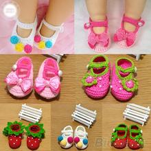 Newborn Baby Infant Girls Baby  Shoes Crochet Knit Socks Crib  shoes 0-12 Months First Walkers 04A6(China (Mainland))