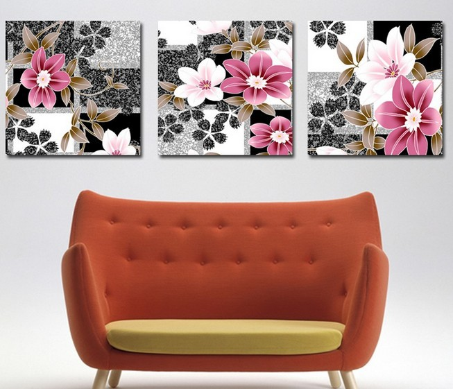 3 Piece Free Shipping Hot Sell Modern Wall Painting Home Decorative Art Picture Paint on Canvas Prints The sketch daffodils(China (Mainland))