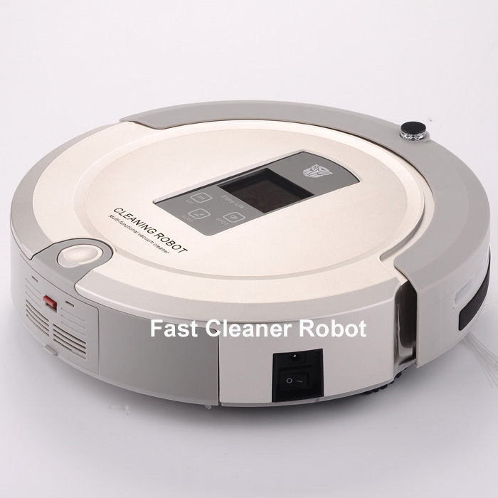 2014 New Arrival Best One Robot House Carpet Cleaning Cleaner Robot With Remote control, UV lamp, Schedule, LCD touch screen(China (Mainland))