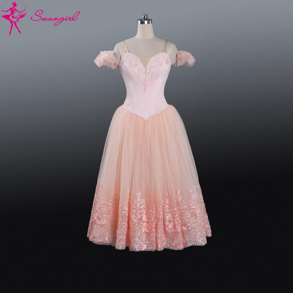 New Arrival!light pink ballerina tutu dress for women giselle ballet tutu dress costumes adult tutu ballerina dress kidsBT9089(China (Mainland))