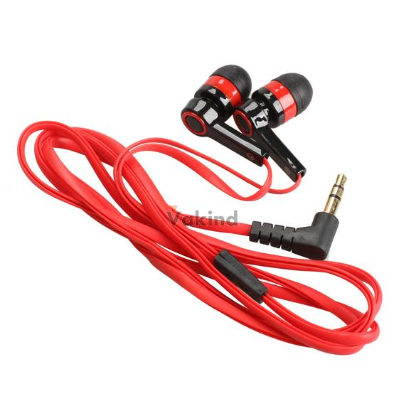 V1NF 3.5mm In-Ear Earphone Candy Color Symmetric Headphone Compact Flat Cable(China (Mainland))