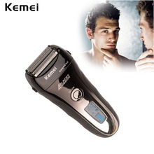 LCD Display Electric Shaver Men Washable Rechargeable 4 Blade Electric Shaving Razor Trimmer Machine Quick Charge Barbeador(China (Mainland))