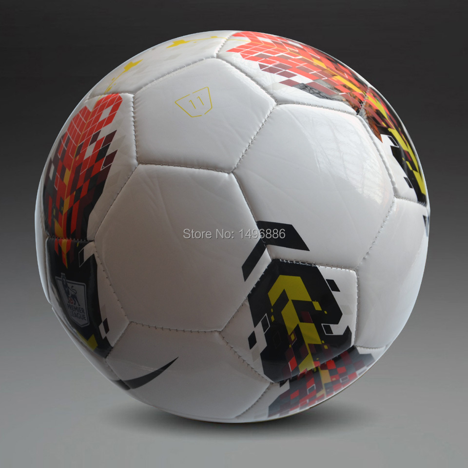 Hot sales 2015 English Premier League Soccer Soccer Ball Brand New Official Size 5 Replica Football Match Ball High Quality(China (Mainland))
