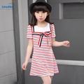4 16 years Sweet Kids girls clothes summer 2016 new fashion children Girls Clothig mini Dress