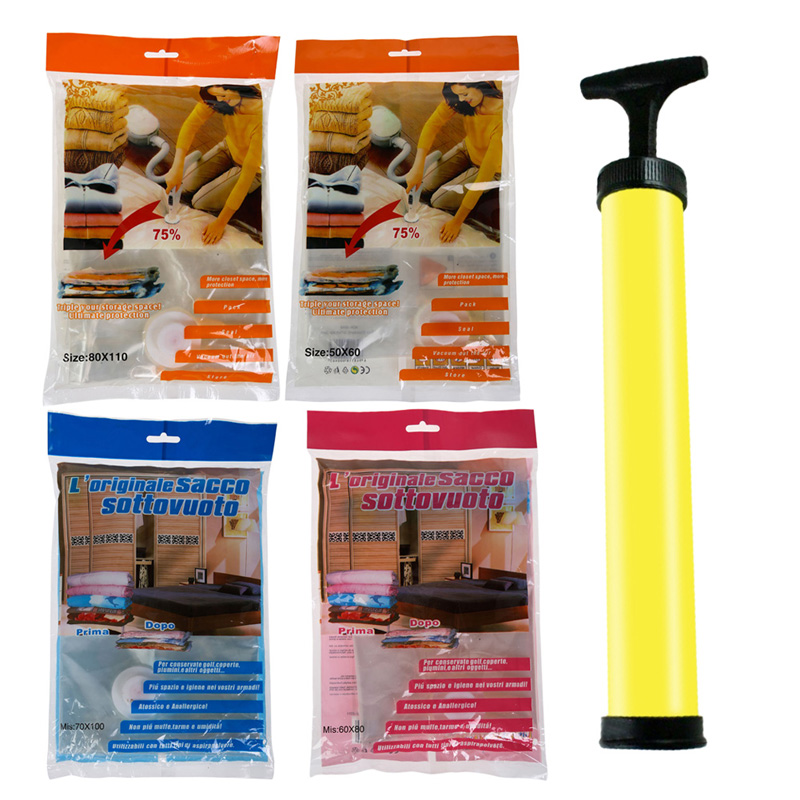 LS4G Space Saver Saving Storage Bag Vacuum Seal Compressed Organizer Package Bag Free Shipping(China (Mainland))