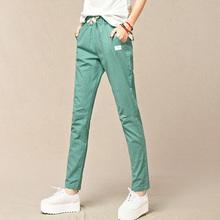 women pants 2015 new autumn style fashion plus size harem pants cotton lacing casual pants  Slim was thin harlan pants female(China (Mainland))