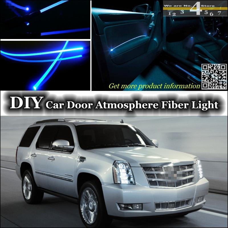 interior Ambient Light Tuning Atmosphere Fiber Optic Band Lights For Cadillac Escalade GTM 800 900 Door Panel llumination Tuning(China (Mainland))