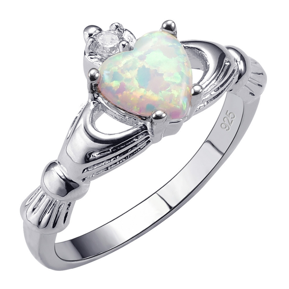 Hot Sale Exquisite White Fire Opal 925 Sterling Silver High Quantity Ring Beautiful Jewelry Size 5 6 7 8 9 10 11 12 F1538(China (Mainland))