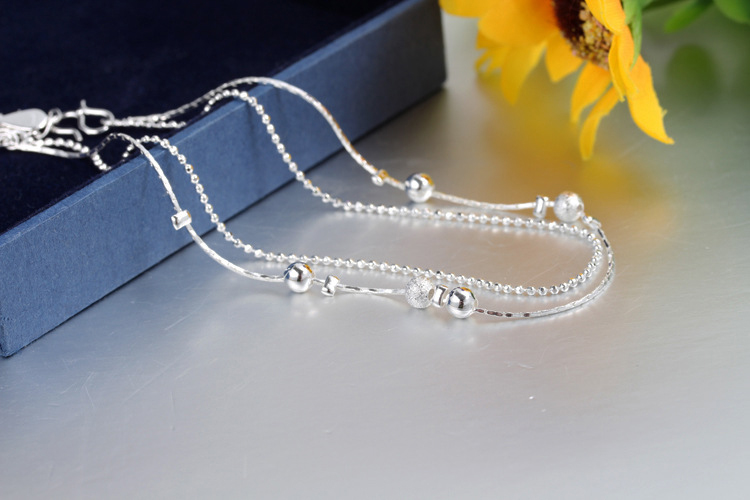 Silver Plated Anklets For Women Ankle Bracelet Foot Jewelry Barefoot Sandals Anklets Leg Chain Bracelet Anklet Ankle Chains JL02