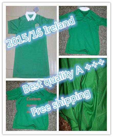 De 2015/16 Irlanda Ireland 2015 camisa verde vestido T-shirt frete gratis Qualidade Tailandia(China (Mainland))