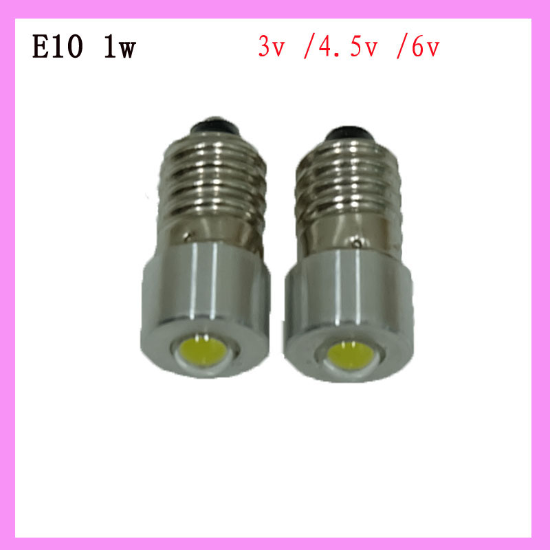 Wholesale Retail Led Flashlight Replacement Led Bulb E10 1w 3 4 5 6v 20 30mm Emergency Work