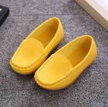 YWPENGCAI גודל 21-37 ילדים נעלי רך עור מפוצל ילדי מוצק צבעים רך נעלי בנות ילדי נעלי מוקסינים #8EL0137(China)
