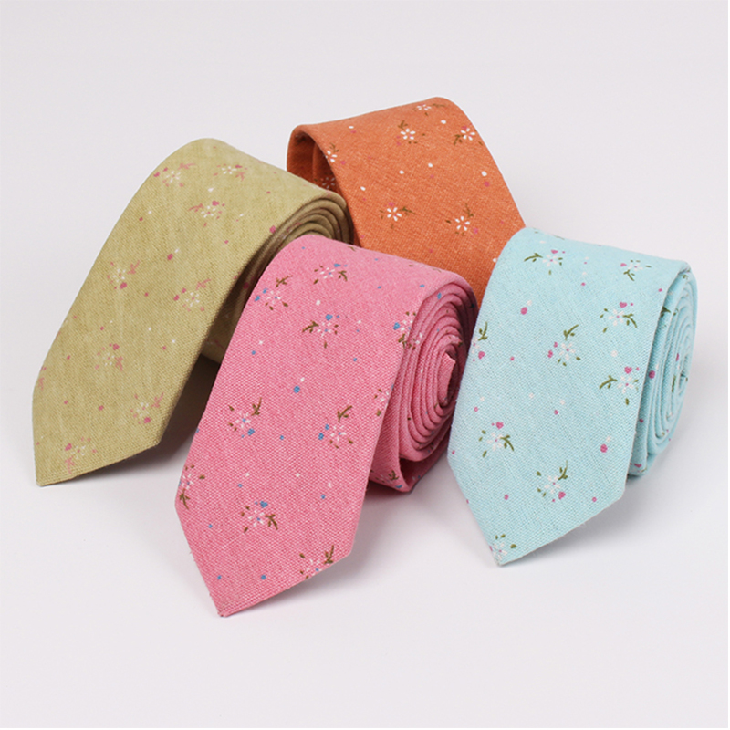 2015 New Style Cotton Skinny Necktie Ties for Men's Suits Wedding Party Floral Necktie Slim Gravatas Vestidos Corbatas Cravat(China (Mainland))