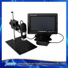 8 LED Lights Illuminant 20X/400X USB Zoom Camera Magnifier Portable Digital Video Microscope with Stand & LCD Displayer(China (Mainland))