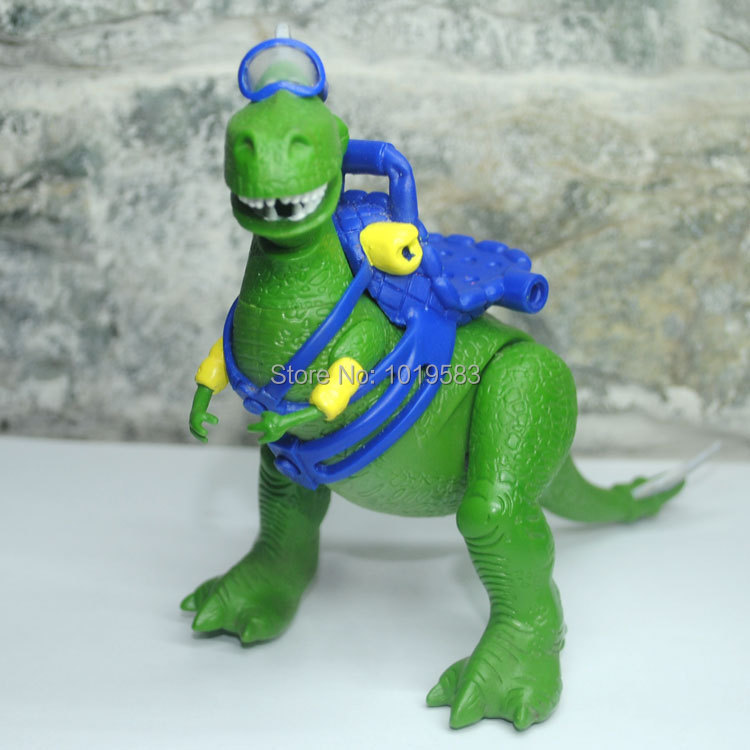 Brand New Pixar Toy Story Action Figure Toys The REX 18CM Length PVC Cartoon Figure Model Toy For Gift/Children -Free Shipping(China (Mainland))