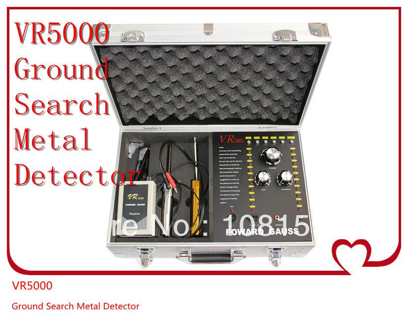 Or / argent / cuivre / plomb / étain / détecteur de diamant Probing profondeur de 50 m de portée de détection du 1000 m VR5000 détecteurs de métaux précieux(China (Mainland))
