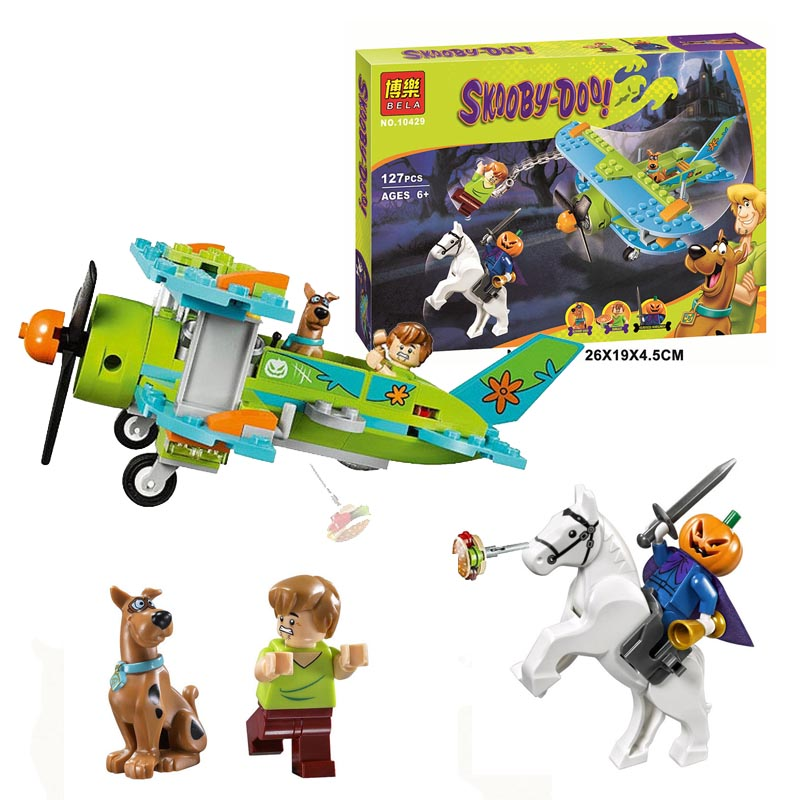 127pcs Scooby Doo Dog Mystery Plane Adventures Building Kit Toys Shaggy Pumpkin knight Block Bela 10429(China (Mainland))