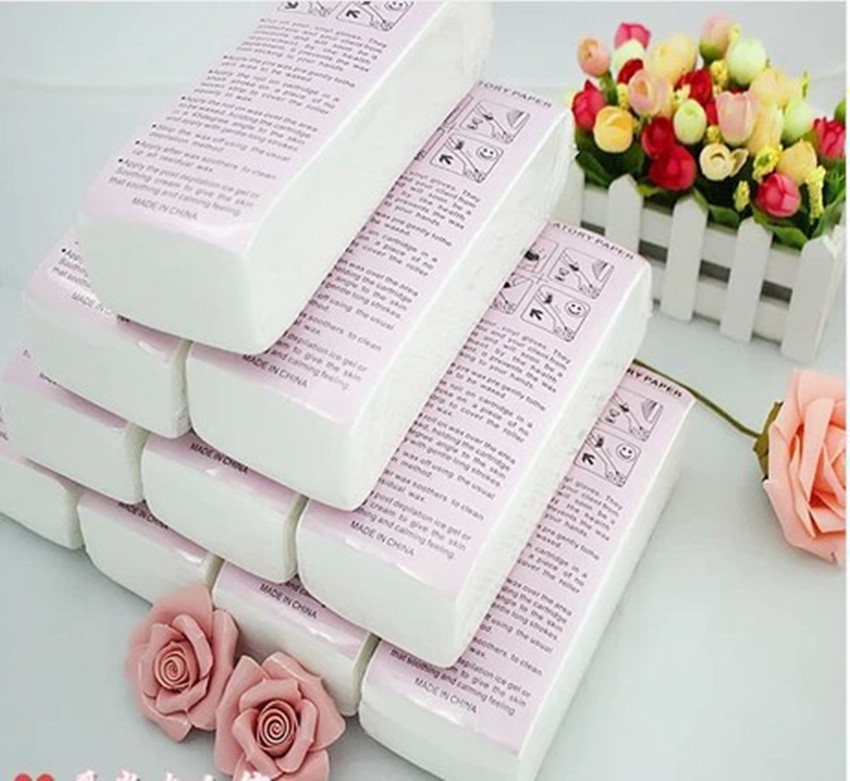 With special thick non-woven depilatory wax hair removal Waxing wax paper for paper white 100 hair removal wax for depilation