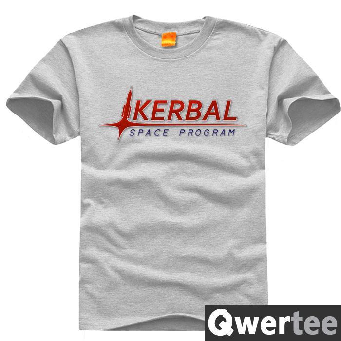 Kerbal Space Program KSP Squad Print Original Design Fashion Style Casual Cotton Tshirt T shirt TEE Free Shipping(China (Mainland))