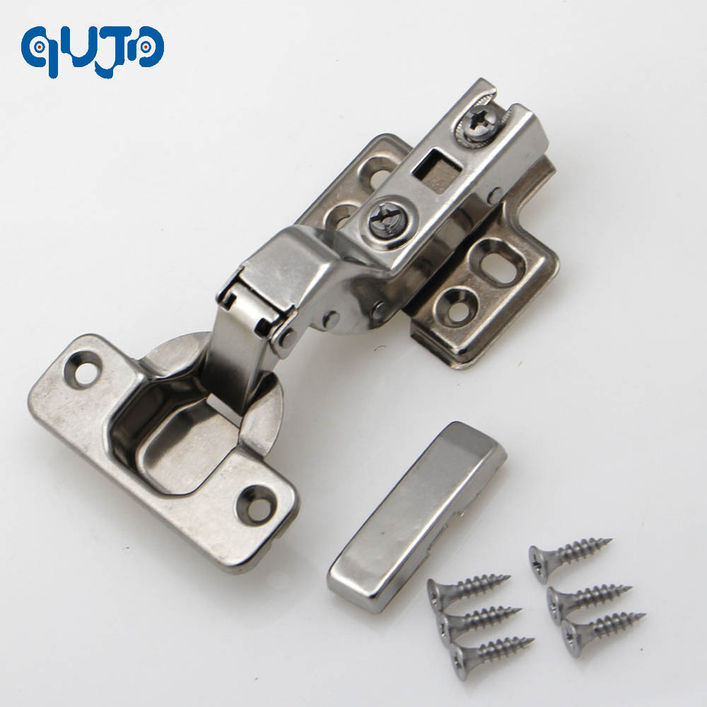 inset hinge 304 Stainless steel Embed Hydraulic furniture hinge conceal adjustable inset kitchen cabinet hinges(China (Mainland))