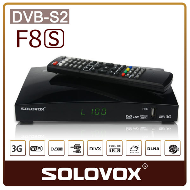 SOLOVOX F8S DVB S2 satellite receiver Decoder Support USB WIFI 3G cccam Youporn MGCAM newcamd/ F3S/F4S/F5S/V6/V7/V8/A100/AS100(China (Mainland))