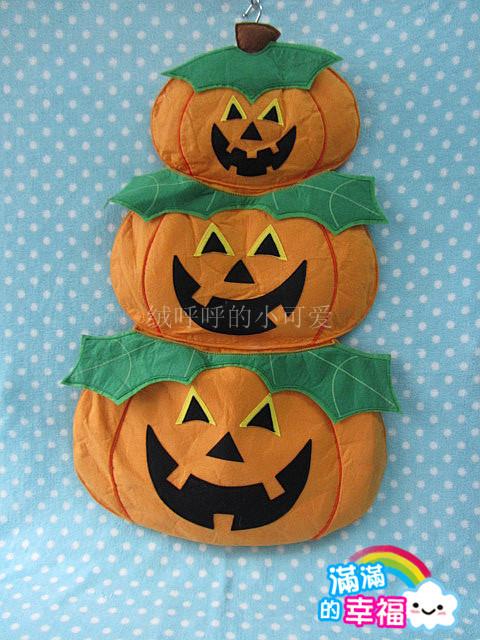 Foreign Trade of the original single plush children's holiday gift European single - Halloween pumpkin monster storage bag orna(China (Mainland))