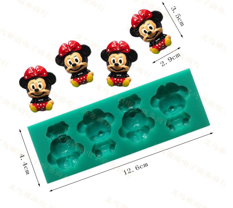 Minnie Mouse sugar cake mold(China (Mainland))
