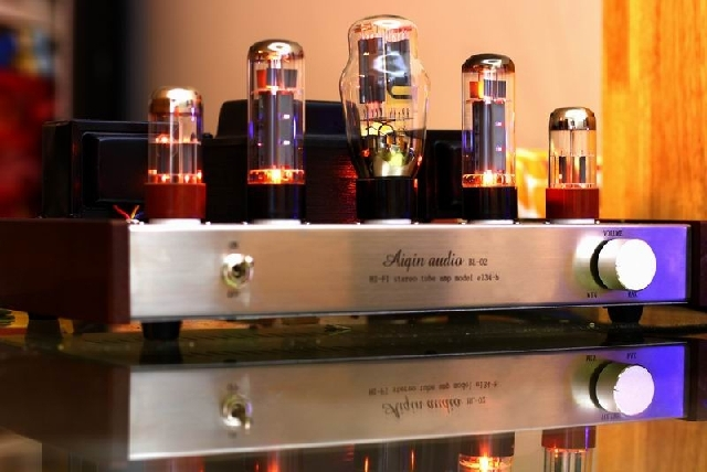 Top selling AIQIN EL34 tube amps Single-ended Class A handmade HIFI EXQUIS amplifier finished product Luxury Slivier Edition(China (Mainland))