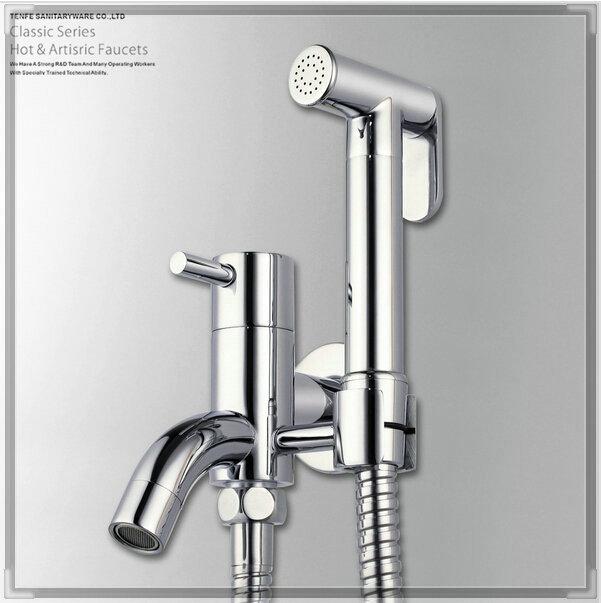 bidet mixer tap faucet chrome brass bathroom toilet sprayer set touch faucet(China (Mainland))