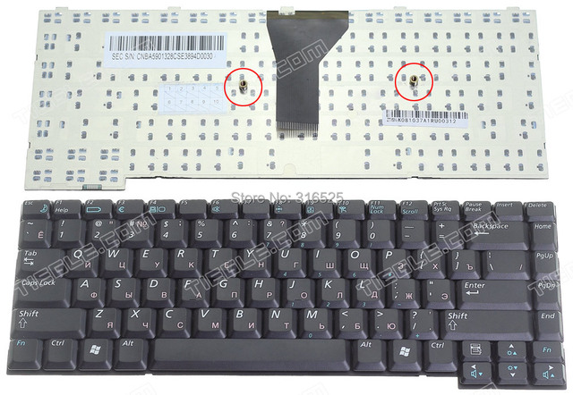 Original  New  Russian RU Keyboard  For SAMSUNG P28 P29  Black  Layout Notebook