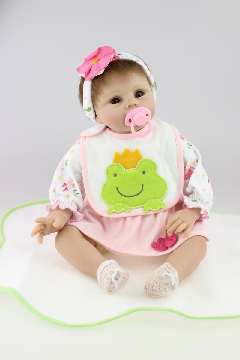 22 inch soft reborn baby dolls for sale with Pacifiers(China (Mainland))