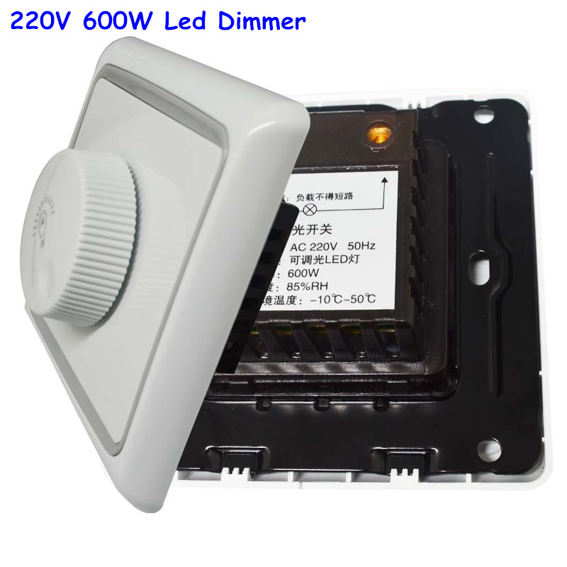 220v 600w led dimmer switch brightness dimmers for adjustable led lights in dimmers from lights. Black Bedroom Furniture Sets. Home Design Ideas