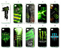 2014 HOT new design 1pcs/lot wholesale monster hard white case cover for iphone5 5s + free shipping