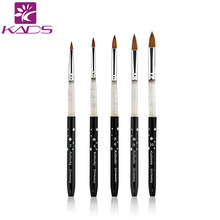 100% Kolinsky Sable 5pcs/SET size 2#/4#/6#/8#/10#.acrylic brush black kolinsky sable acrylic nail brush nail art design brush(China (Mainland))