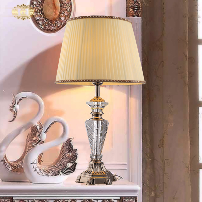 european luxury style crystal table lamp bedroom decoration crystal table lamp hotel room lights