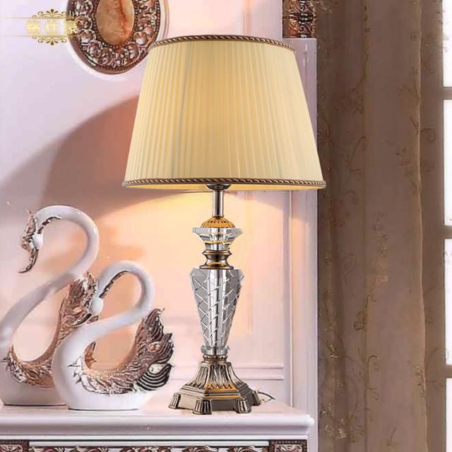 european luxury style crystal table lamp bedroom. Black Bedroom Furniture Sets. Home Design Ideas