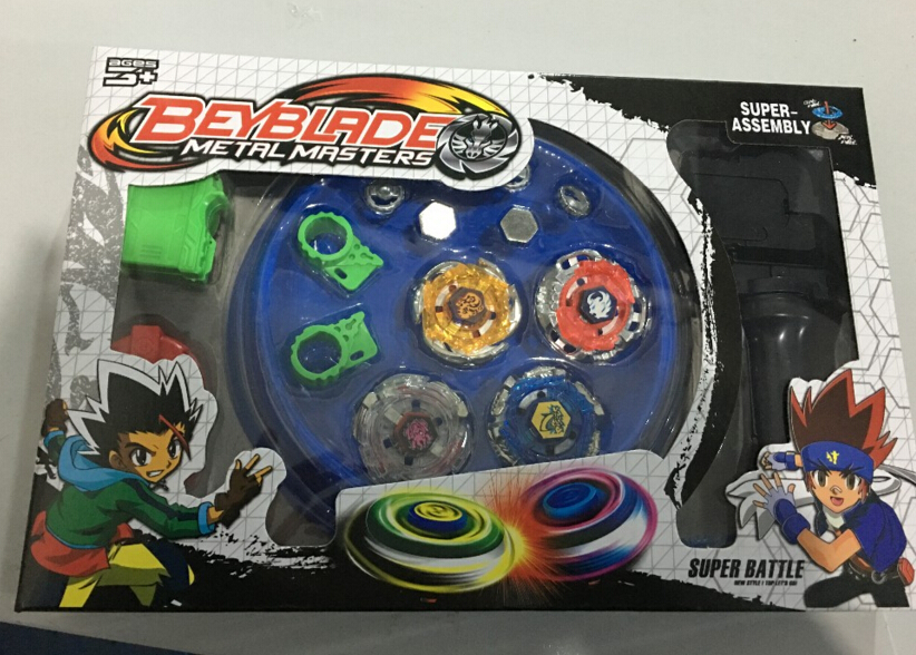 Beyblade Metal Masters 4pcs Alloy Spinning Tops Launcher Grip Set Assembly Super Battle Kids Classic Toys Gifts original box(China (Mainland))