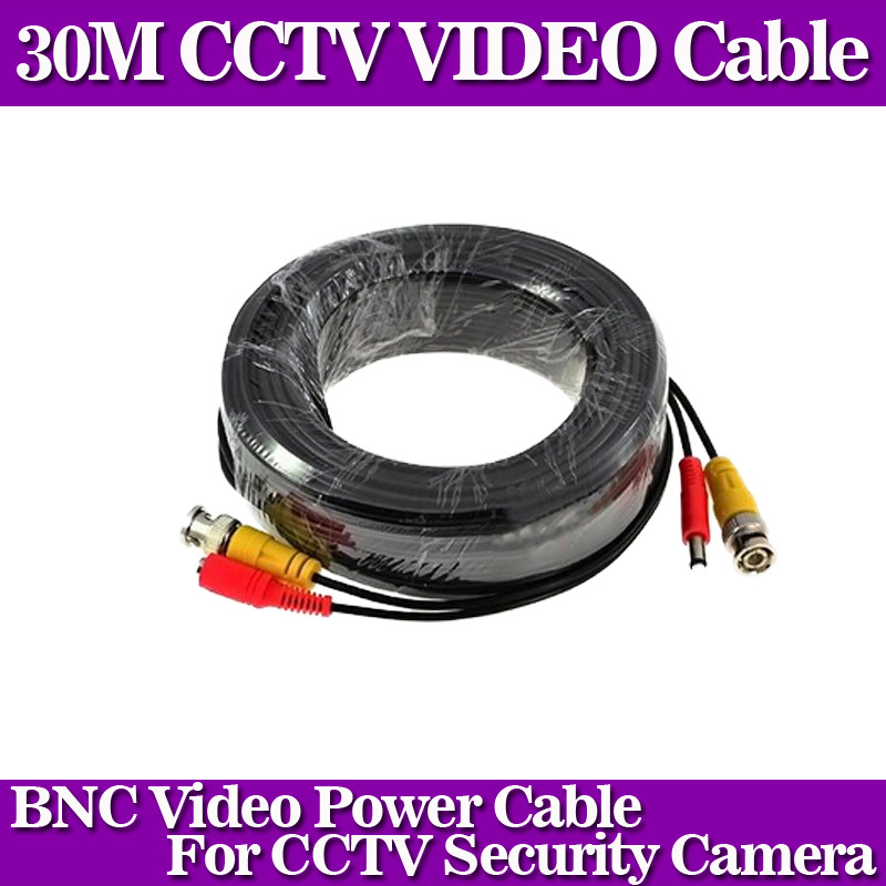 Гаджет   100FT cctv cable 30m BNC Video Power coaxial Cable bnc video output cable for cctv Security Camera None Безопасность и защита