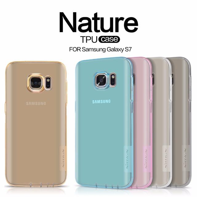 NILLKIN Природа ТПУ Прозрачный мягкий чехол для Samsung Galaxy S7 Серии Люксовый бренд с в розницу пакет