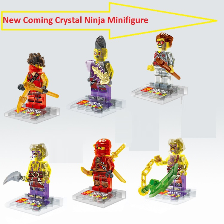 2015 New Arrive Lele Crystal Ninja Minifigures 78056 Classic Building Block Figures DIY Assemble Best Children Gift Toy(China (Mainland))