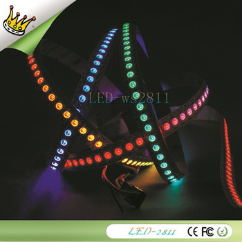 1M WS2811 Dream Color LED Strip Lights 144 Pixel 5050 RGB SMD WS2811 IC Per Meter non-Waterproof  white PCB Lights DC5V