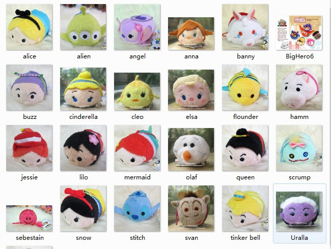 Retail 3.5 Inch Mini Lovely TSUM TSUM toy Animal plush Doll Baby Baymax toys Mickey Alice Cinderalla brinquedos(China (Mainland))