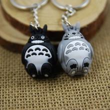 Buy Totoro keychain cute key ring women flexible glue anime key chain keyfob creative portachiavi chaveiro llaveros hombre for $1.80 in AliExpress store