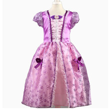 PaMaBa/элегантное платье принцессы для девочек, карнавальный костюм Рапунцель, Золушки, вечерние праздничное платье, Белоснежка, детское баль...(China)
