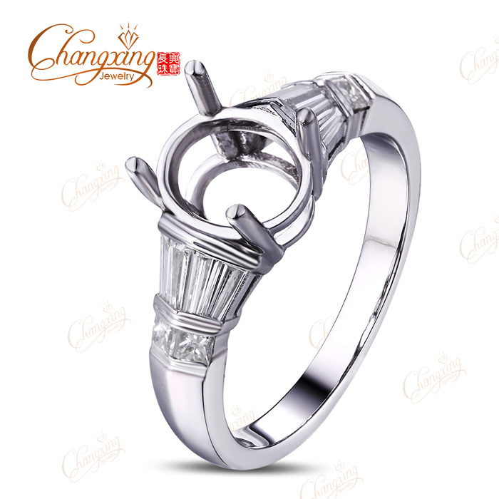 9x7mm Oval 14kt White Gold 0.75ct Diamond Engagement Vinage Semi Mount Ring New<br><br>Aliexpress