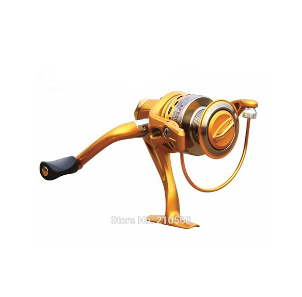 6 Ball Bearings New technology Left/Right Hand Interchangable Collapsible Handle Spinning Fishing Reel AF2000G AF3000G AF4000G(China (Mainland))