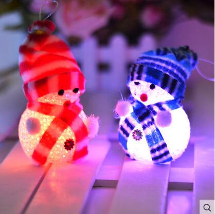 light snowman Santa Claus doll colorful dazzling Christmas gifts christmas decoration adornos navidad artigos natal santa sacks(China (Mainland))