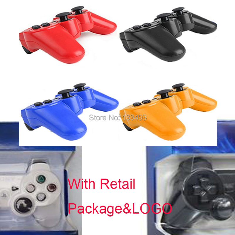 image for 2pcs/lot Original Joystick Sixaxis Double Wireless Controller For Sony